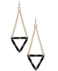 Thalia Sodi Gold-Tone Stone Triangle Drop Earrings, Created for Macy's