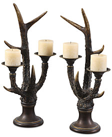Uttermost Stag Horn Set of 2 Candleholders