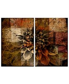 'Daisy Abstract' Oversized 2-Pc. Canvas Art Print Set