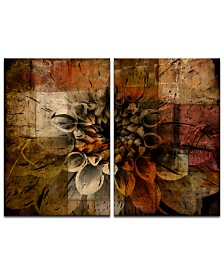 Ready2HangArt 'Daisy Abstract' Oversized 2-Pc. Canvas Art Print Set
