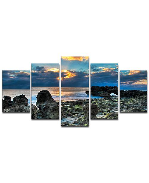 Ready2HangArt 'Sunrise' 5-Pc. Canvas Art Print Set