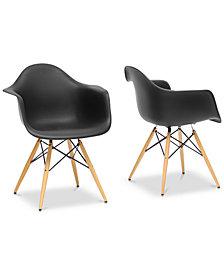 Niaja Shell Chair (Set of 2), Quick Ship