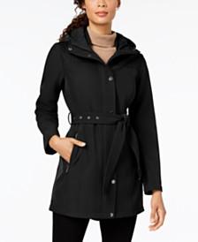 MICHAEL Michael Kors Belted Quilt-Patch Raincoat