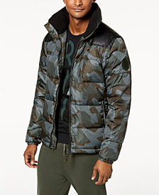 A|X Armani Exchange Men's Camo-Print Puffer Jacket