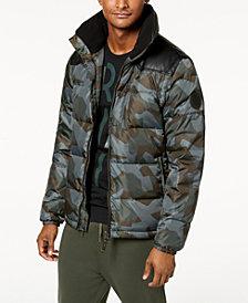 A|X Armani Exchange Men's Camo-Print Puffer Jacket