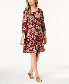 Karen Scott Printed Swing Dress, Created for Macy's