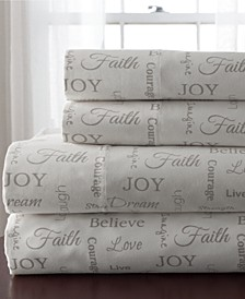 Microfiber 4-Pc Inspirational California King Sheet Set