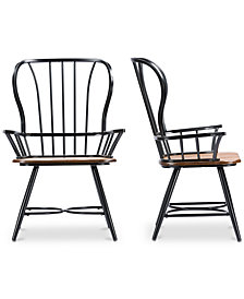 Tauria Dining Arm Chair (Set of 2), Quick Ship