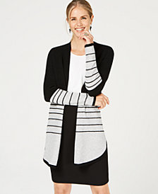 Charter Club Pure Cashmere Textured Stripe Sweater, Created for Macy's