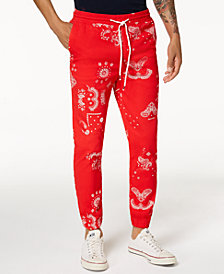 Jaywalker Men's Paisley-Print Jogger Pants