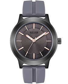 Kenneth Cole Reaction Men's Gray Silicone Strap Watch 46mm