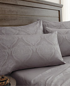 Jacquard Damask 800 Thread Count 6-Pc. Full Sheet Set
