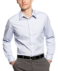 Calvin Klein Men's Infinite Cool Non-Iron Micro-Checked Shirt