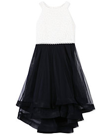 Speechless Big Girls Plus Glitter Lace Fit & Flare Dress