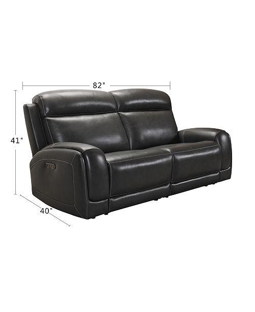 Brilliant Winterton 82 2 Pc Leather Power Reclining Sofa With 2 Power Recliners Power Headrests Lumbar Usb Power Outlet Inzonedesignstudio Interior Chair Design Inzonedesignstudiocom