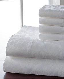 600 Thread Count 6-Pc. White Queen Sheet Set