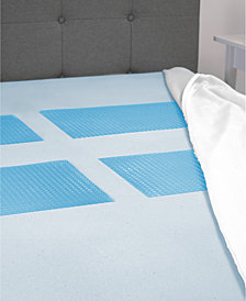 "SensorGel GelMax 3"" Memory Foam Full Mattress Topper with Gel Overlay Inserts"