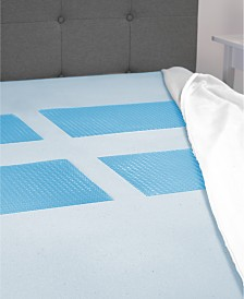 "CLOSEOUT! SensorGel GelMax 3"" Memory Foam Twin Mattress Topper with Gel Overlay Inserts"