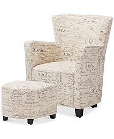 Rixenda Club Chair and Ottoman Set, Quick Ship