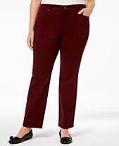 bc6502b7374 Charter Club Plus Size Lexington Tummy-Control Colored Wash Straight-Leg  Jeans
