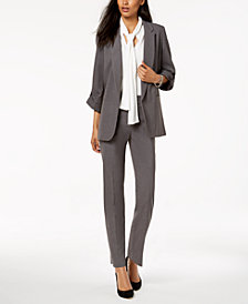 Nine West Kiss-Front Blazer & Slim-Leg Pants