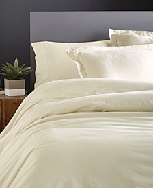 Donna Karan Cotton 600-Thread Count European Full/Queen Duvet Cover