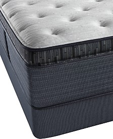 "Beautyrest Platinum Preferred Cedar Ridge 16"" Plush Pillow Top Mattress Set- Queen Split"