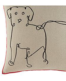ED Ellen Degeneres Dog Square Decorative Pillow