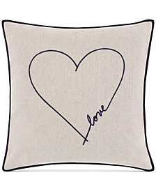 ED Ellen Degeneres Jaspe Love Square Decorative Pillow