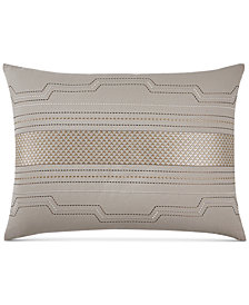 Hotel Collection Como Embroidered Standard Sham, Created for Macy's