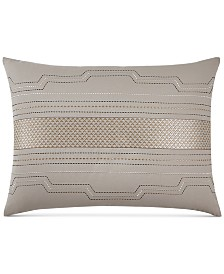 CLOSEOUT! Hotel Collection Como Embroidered Standard Sham, Created for Macy's