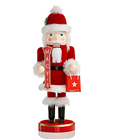 Holiday Lane Macy's Santa with Christmas Sign Nutcracker, Created for Macy's