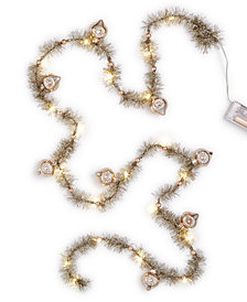 Holiday Lane LED Tinsel Garland, Created for Macy's