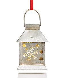 Holiday Lane LED Light-Up Iron Lantern Ornament, Created for Macy's