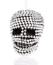 Holiday Lane Spiked Skull Ornament, Created for Macy's