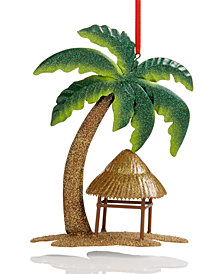 Holiday Lane Palm Tree House Ornament, Created for Macy's