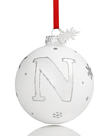 Holiday Lane Initial 'N' Ball Ornament, Created for Macy's