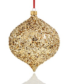 Joy To The World Glitter Drop Ornament Created For Macy's
