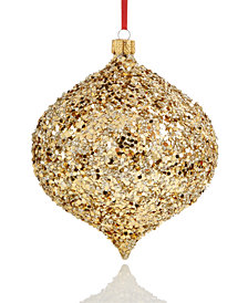 Holiday Lane Onion with Gold Glitter & Bead Ornament, Created for Macy's