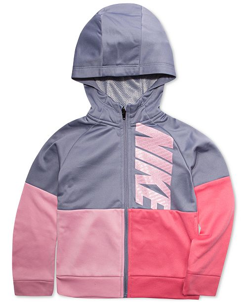 58fac43efc Nike Little Girls Therma-FIT Full-Zip Hooded Sweatshirt & Reviews ...