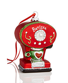 Holiday Lane Coffee Machine Ornament, Created for Macy's
