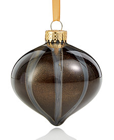 Holiday Lane Glass Onion with Dripping Paint Ornament, Created for Macy's