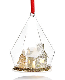 Holiday Lane Light-Up House Under Glass Dome Ornament, Created for Macy's