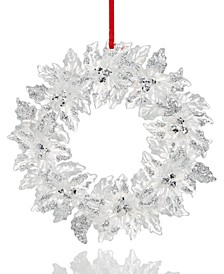 Shine Bright Flower Wreath Ornament Created For Macy's