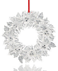 Holiday Lane Leaves Wreath with Berries Ornament, Created for Macy's