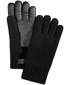 UGG® Men's Knit & Leather Gloves