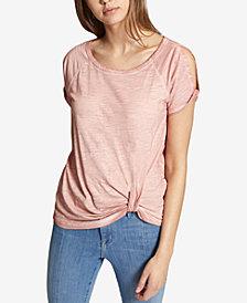 Sanctuary Adrienne Cold-Shoulder Twist-Detail T-Shirt