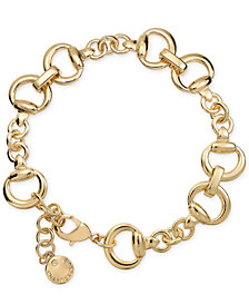 Charter Club Gold-Tone Horsebit Link Bracelet, Created for Macy's