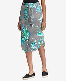 Lauren Ralph Lauren Petite Printed Twill Skirt
