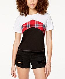 Ultra Flirt by Ikeddi Juniors' Colorblocked Chevron-Stripe T-Shirt